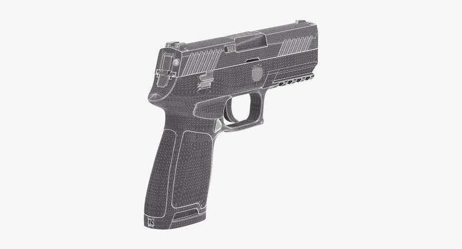 Pistola royalty-free modelo 3d - Preview no. 13