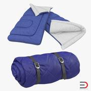 Sleeping Bags Set 3d model