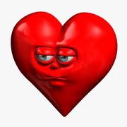 Мультфильм сердце 3d model