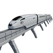 Modern electromagnetic train 3d model