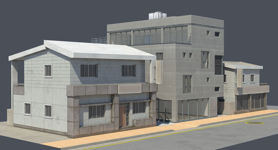 City Building royalty-free 3d model - Preview no. 2
