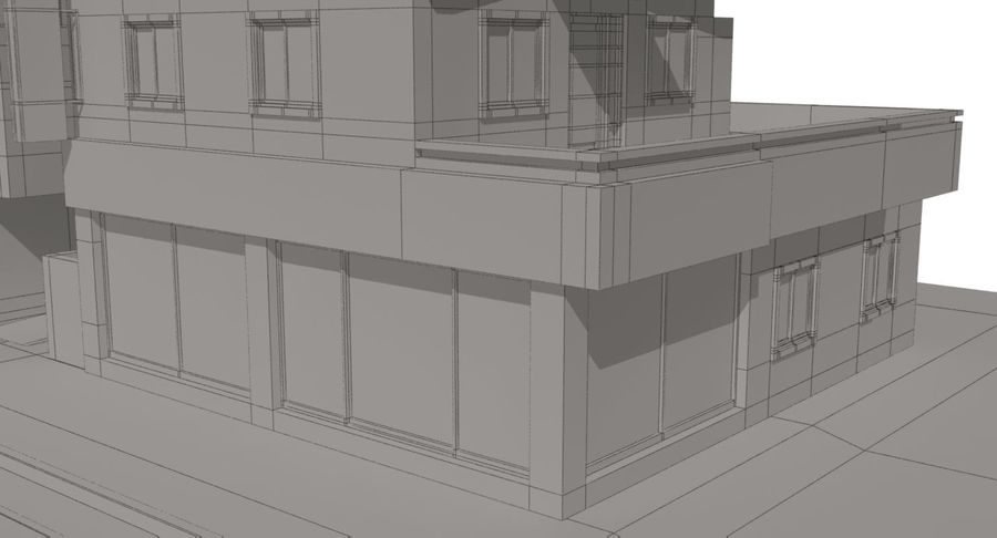 City Building royalty-free 3d model - Preview no. 20