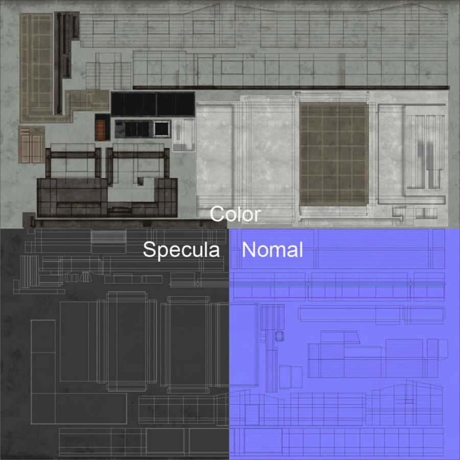 City Building royalty-free 3d model - Preview no. 24