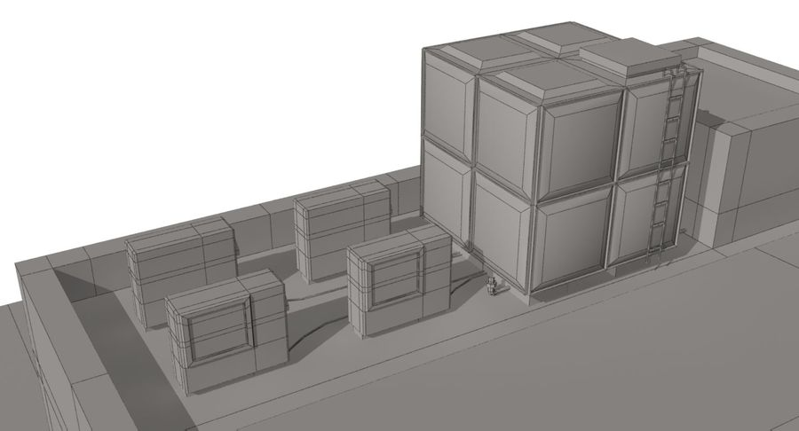City Building royalty-free 3d model - Preview no. 17