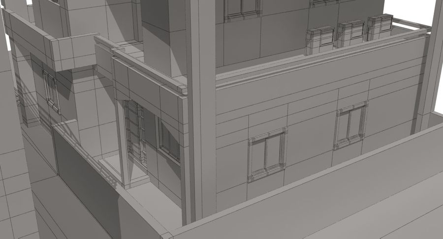 City Building royalty-free 3d model - Preview no. 23