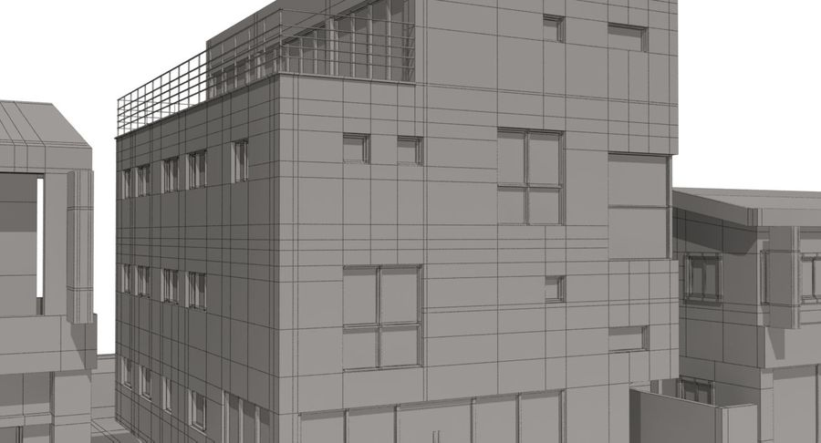 City Building royalty-free 3d model - Preview no. 21