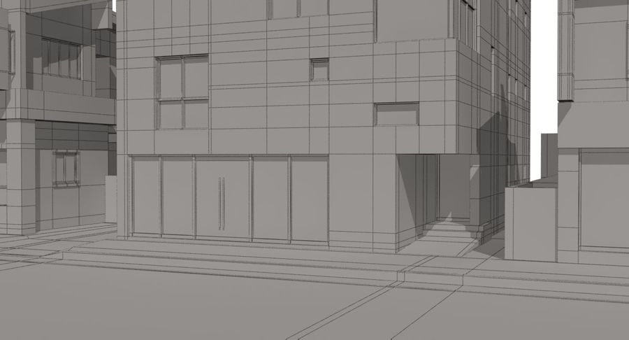 City Building royalty-free 3d model - Preview no. 18