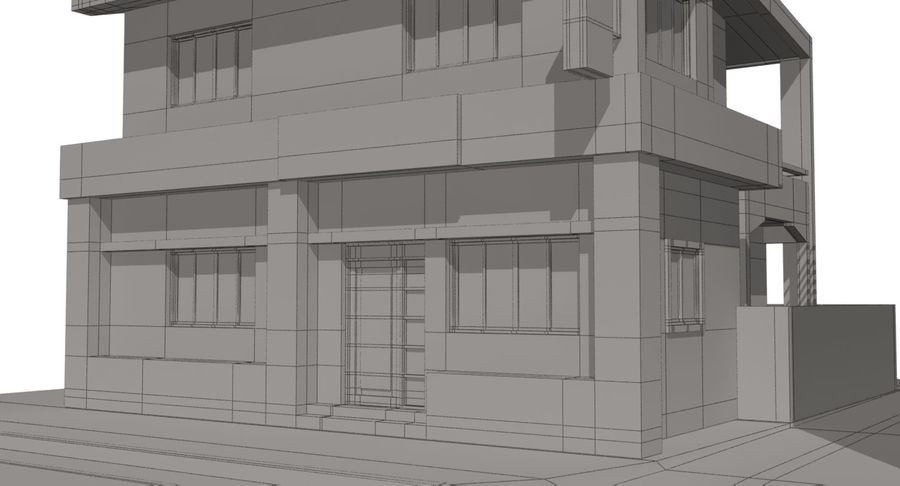 City Building royalty-free 3d model - Preview no. 19