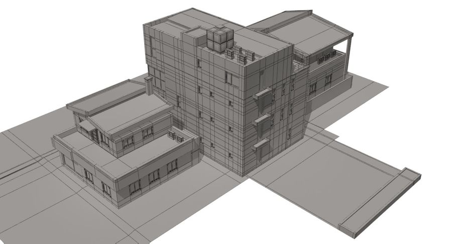City Building royalty-free 3d model - Preview no. 13