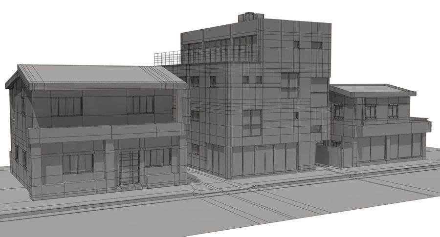 City Building royalty-free 3d model - Preview no. 12
