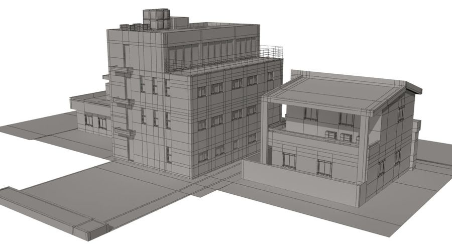 City Building royalty-free 3d model - Preview no. 15