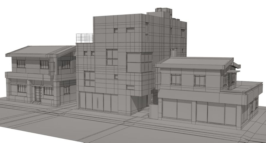 City Building royalty-free 3d model - Preview no. 14