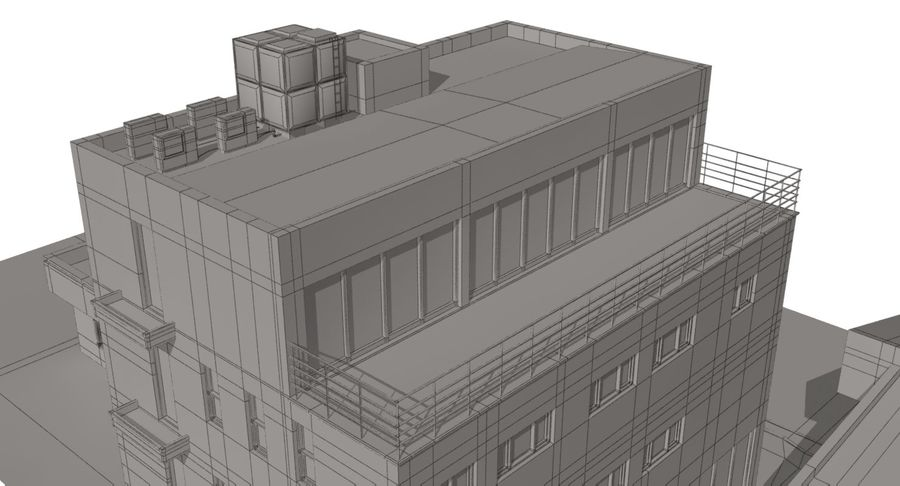 City Building royalty-free 3d model - Preview no. 16