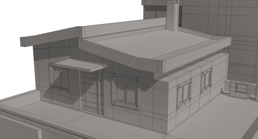 City Building royalty-free 3d model - Preview no. 22