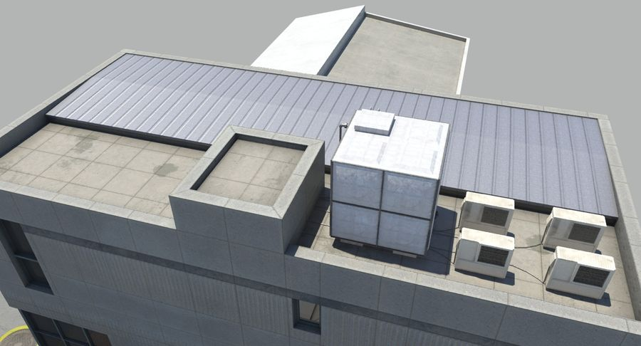 City Building royalty-free 3d model - Preview no. 11