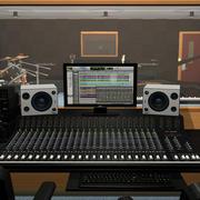 악기와 녹음 스튜디오 3d model
