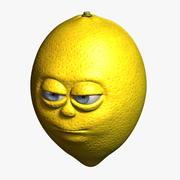 Caricature de citron 3d model
