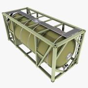 Conteneur-citerne de carburant ISO 3d model