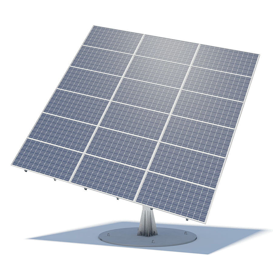 Solar Panels 05 royalty-free 3d model - Preview no. 1