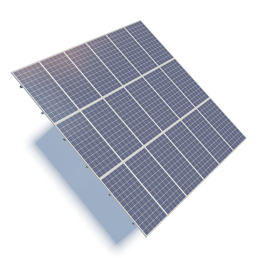 Solar Panels 05 royalty-free 3d model - Preview no. 4
