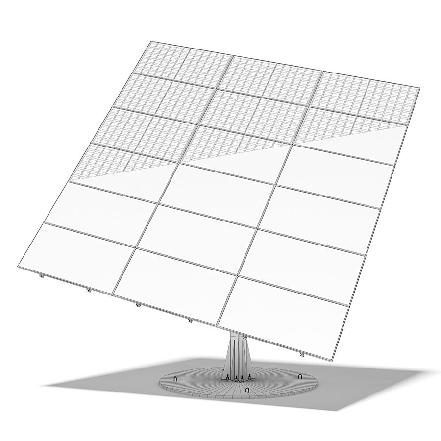 Solar Panels 05 royalty-free 3d model - Preview no. 13