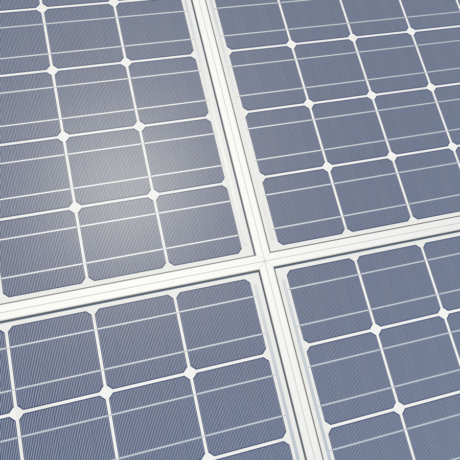Solar Panels 05 royalty-free 3d model - Preview no. 9