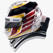 ルイスハミルトン2016スタイルレーシングヘルメット 3d model