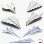 Paper Planes Collection 3d model