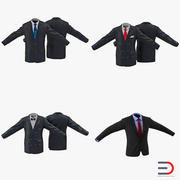 Коллекция 3D моделей мужских костюмов 3d model