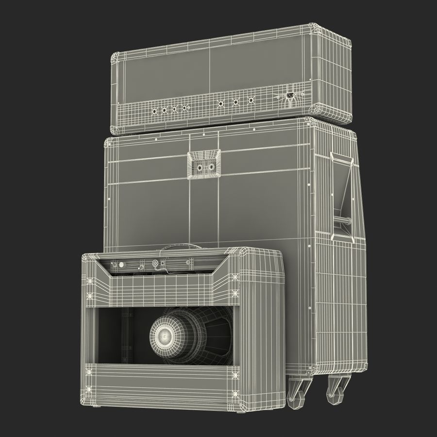 Guitar Amplifiers Collection royalty-free 3d model - Preview no. 42