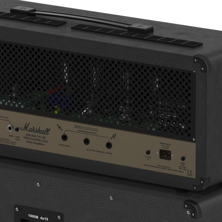 Guitar Amplifiers Collection royalty-free 3d model - Preview no. 24