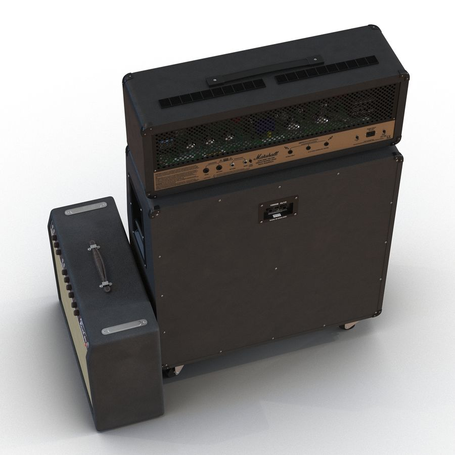 Guitar Amplifiers Collection royalty-free 3d model - Preview no. 8