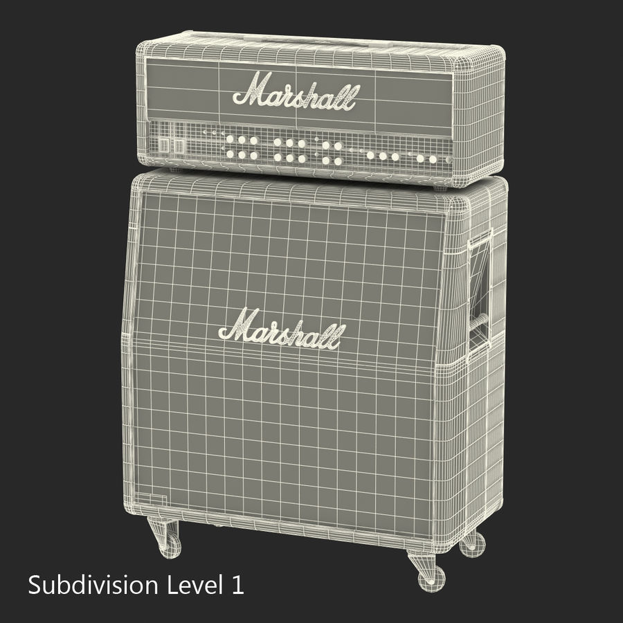 Guitar Amplifiers Collection royalty-free 3d model - Preview no. 33