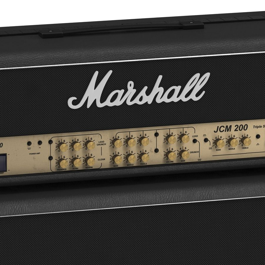 Guitar Amplifiers Collection royalty-free 3d model - Preview no. 23