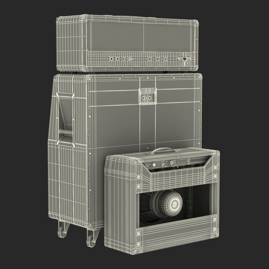 Guitar Amplifiers Collection royalty-free 3d model - Preview no. 43