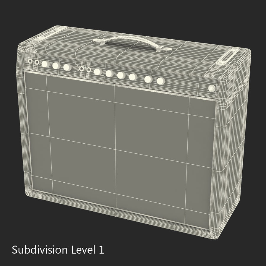 Guitar Amplifiers Collection royalty-free 3d model - Preview no. 35