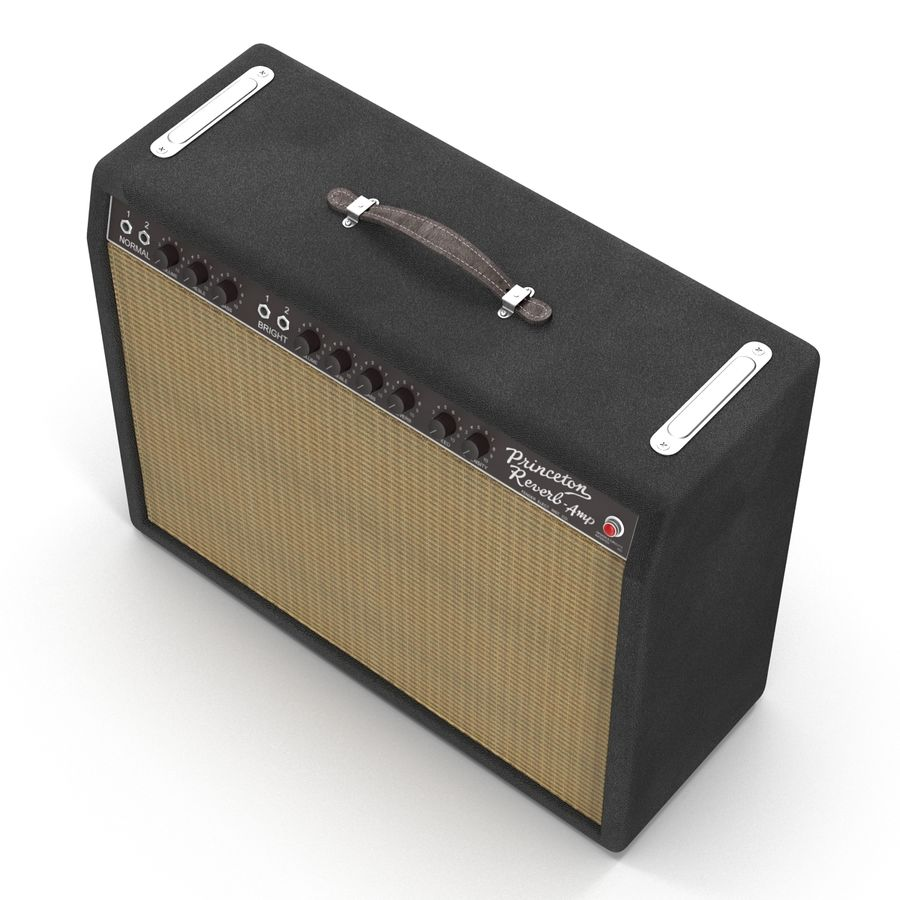 Guitar Amplifiers Collection royalty-free 3d model - Preview no. 28