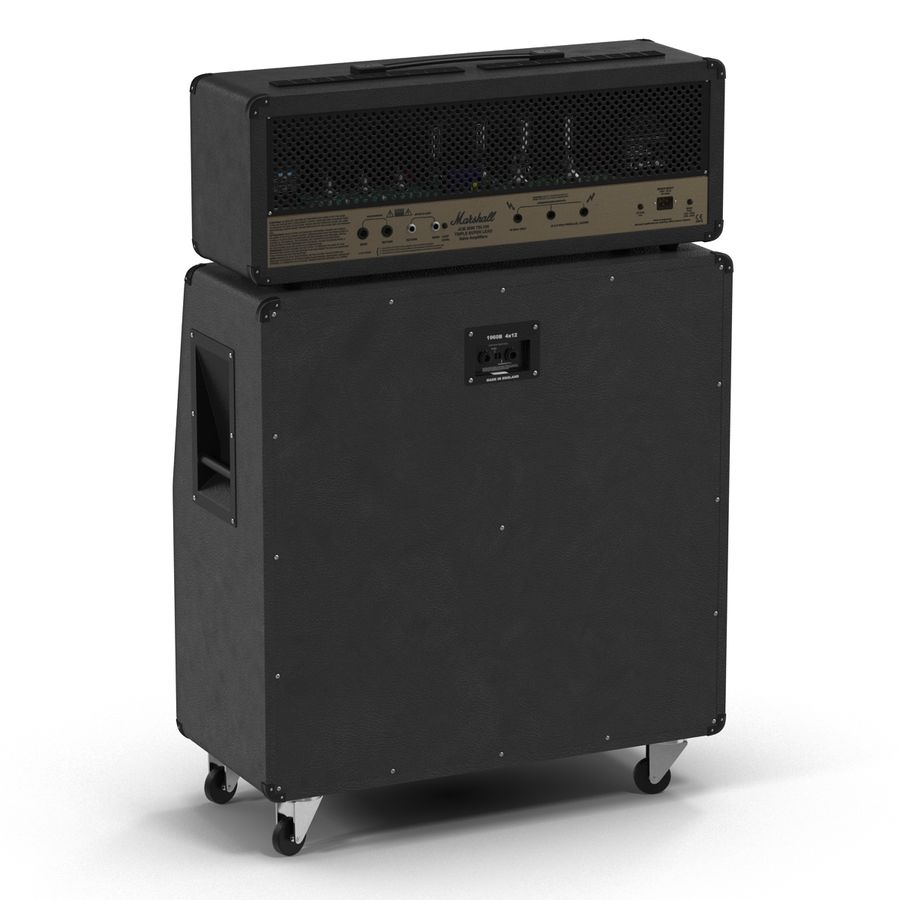 Guitar Amplifiers Collection royalty-free 3d model - Preview no. 17