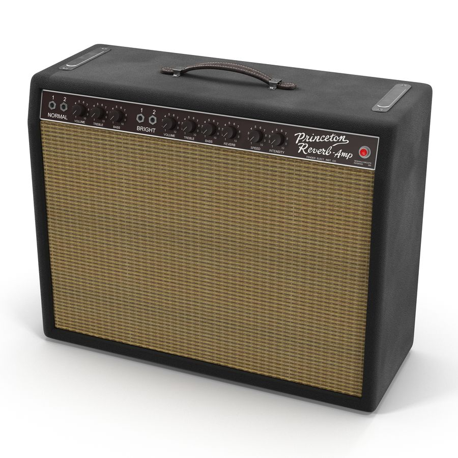 Guitar Amplifiers Collection royalty-free 3d model - Preview no. 25