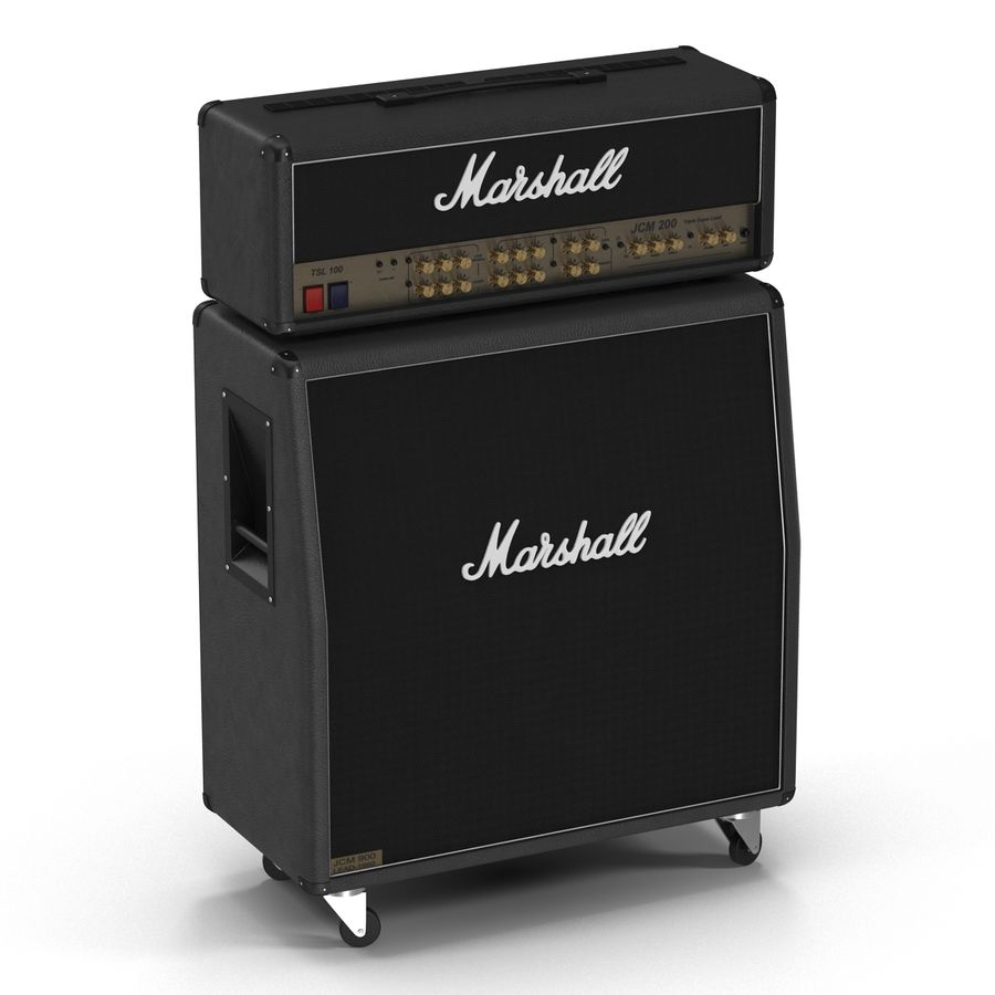 Guitar Amplifiers Collection royalty-free 3d model - Preview no. 15