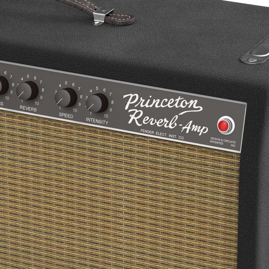 Guitar Amplifiers Collection royalty-free 3d model - Preview no. 30