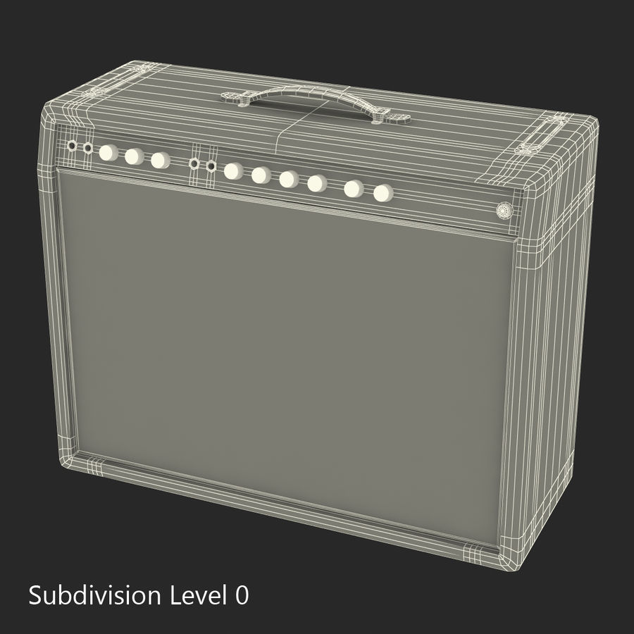 Guitar Amplifiers Collection royalty-free 3d model - Preview no. 34