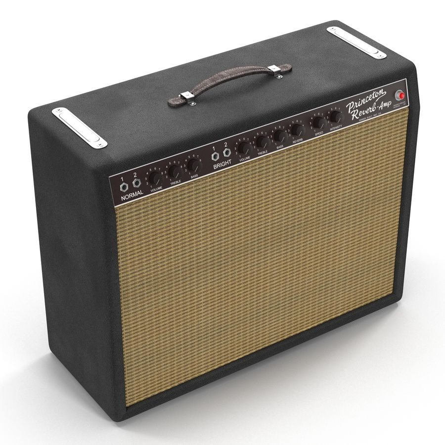 Guitar Amplifiers Collection royalty-free 3d model - Preview no. 26