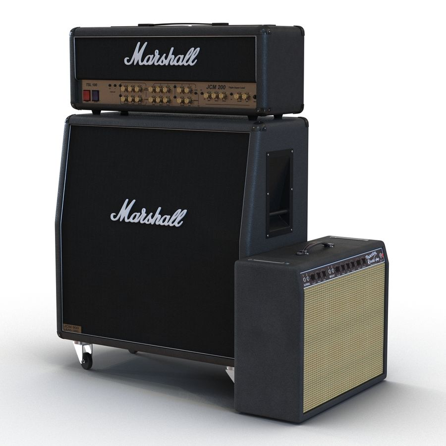 Guitar Amplifiers Collection royalty-free 3d model - Preview no. 6