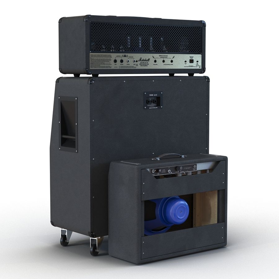 Guitar Amplifiers Collection royalty-free 3d model - Preview no. 11