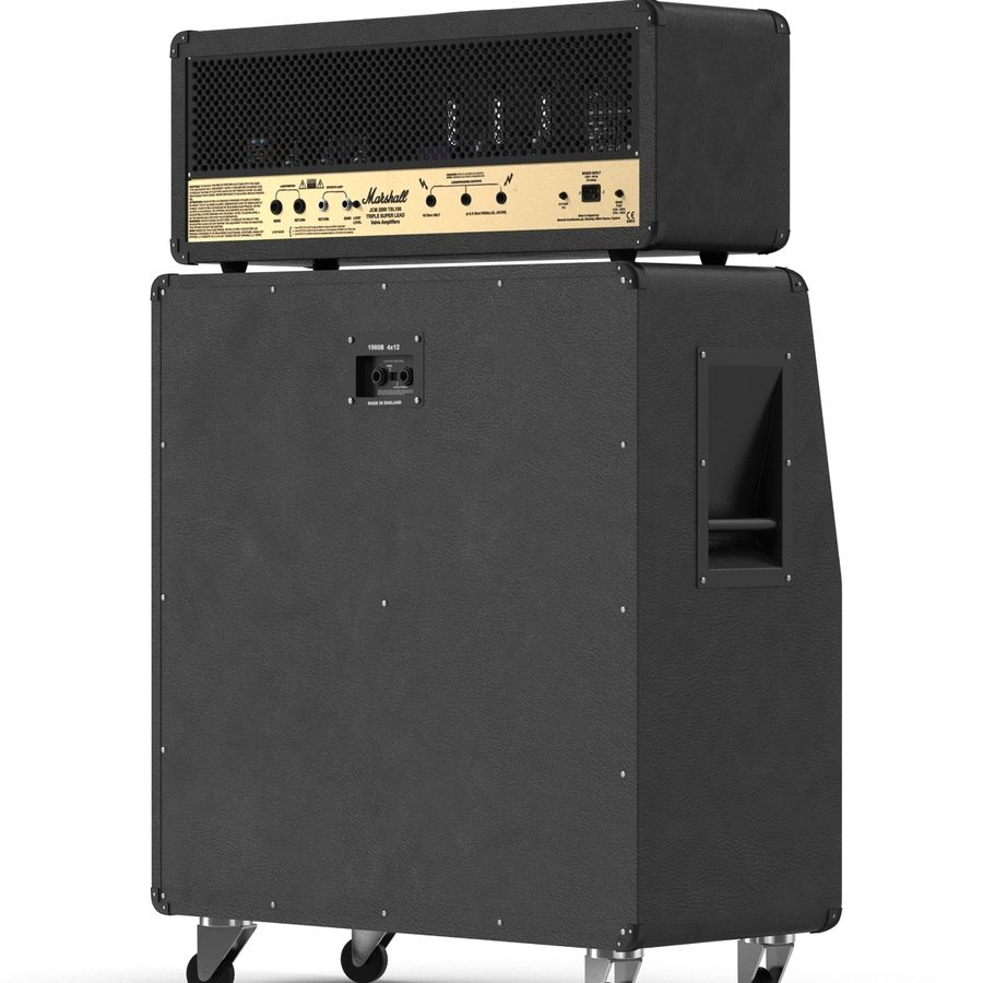 Guitar Amplifiers Collection royalty-free 3d model - Preview no. 20