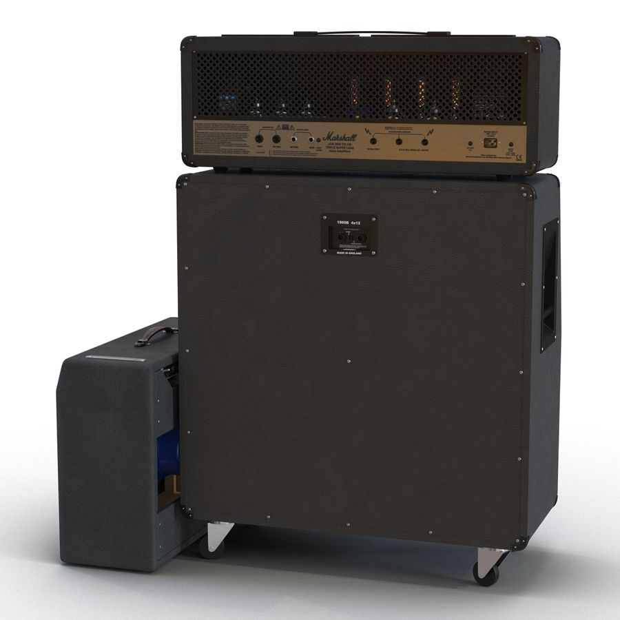 Guitar Amplifiers Collection royalty-free 3d model - Preview no. 7