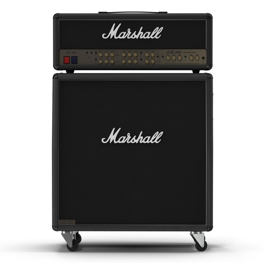 Guitar Amplifiers Collection royalty-free 3d model - Preview no. 13