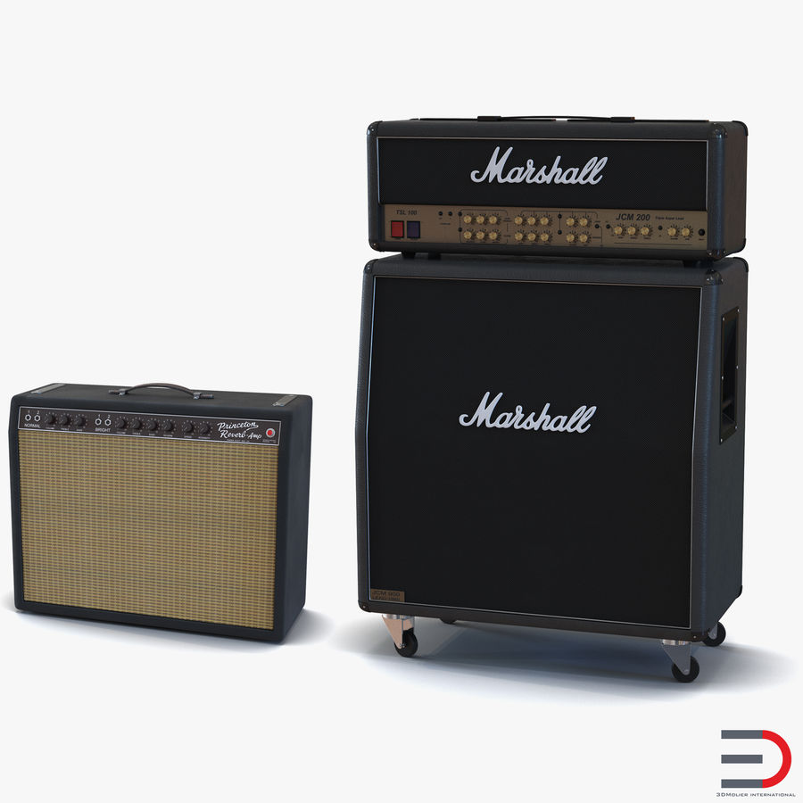Guitar Amplifiers Collection royalty-free 3d model - Preview no. 1