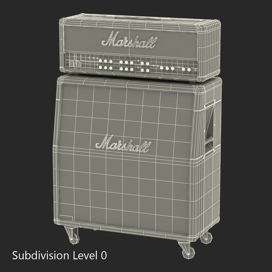 Guitar Amplifiers Collection royalty-free 3d model - Preview no. 32
